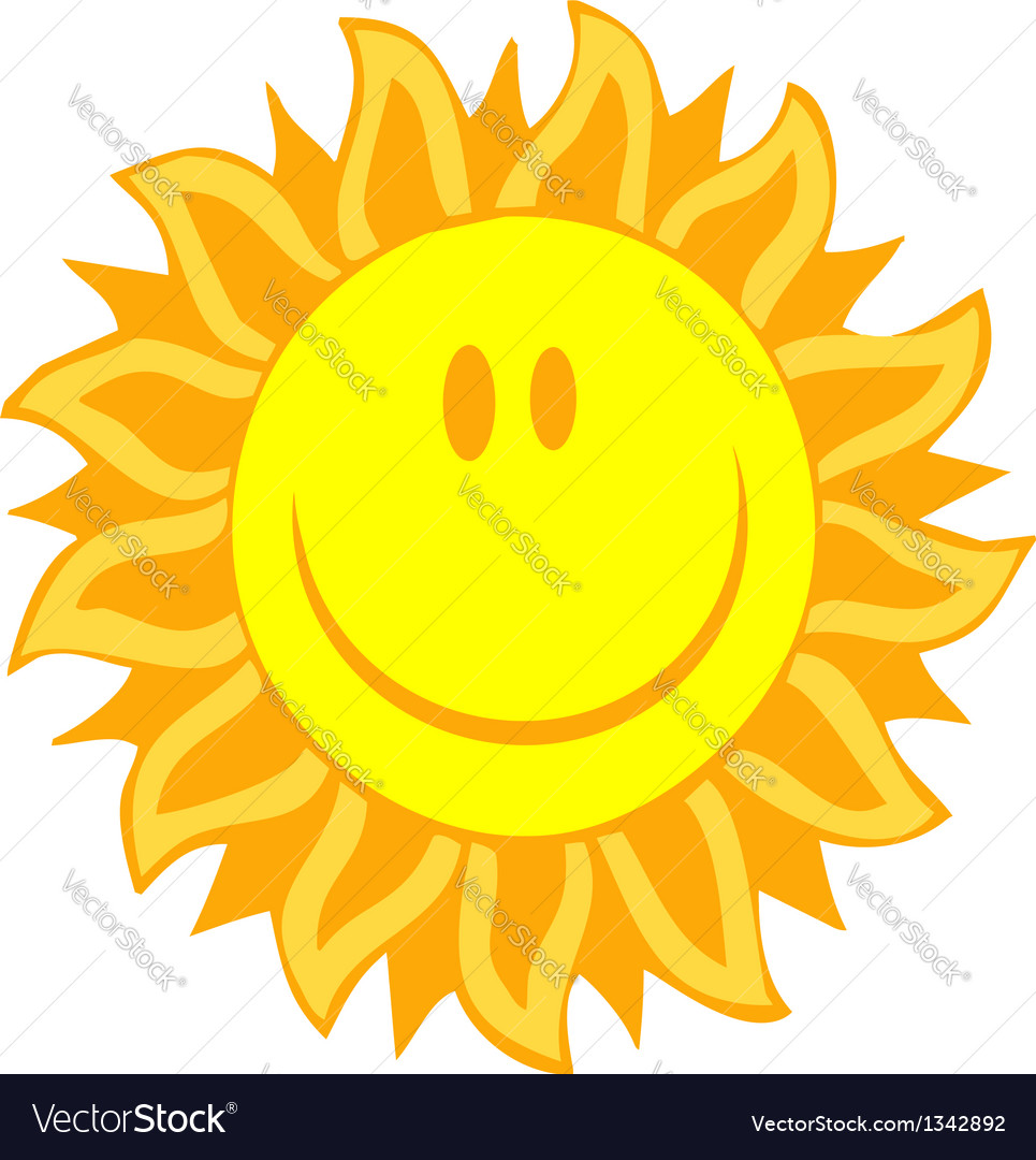 Smiling sun vector | Price: 1 Credit (USD $1)
