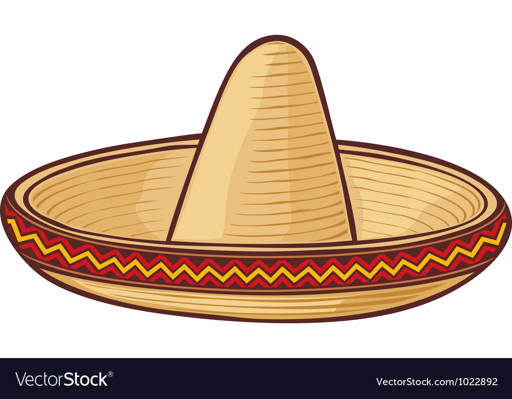 Sombrero mexican hat vector | Price: 1 Credit (USD $1)