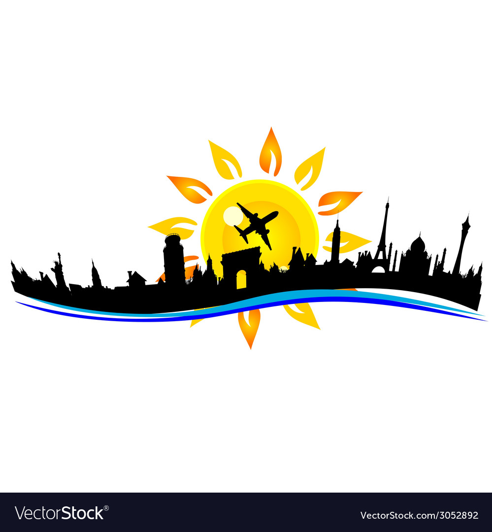 Travel city building sign vector | Price: 1 Credit (USD $1)