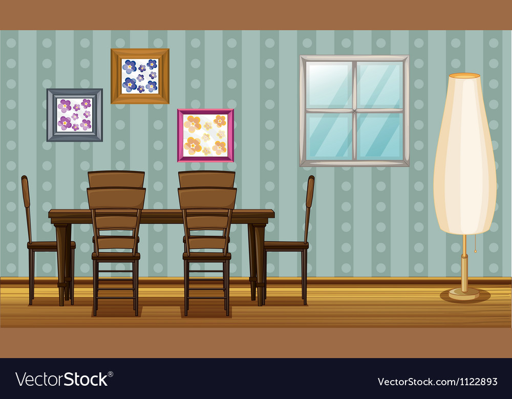 A dinning table and a lamp vector | Price: 1 Credit (USD $1)