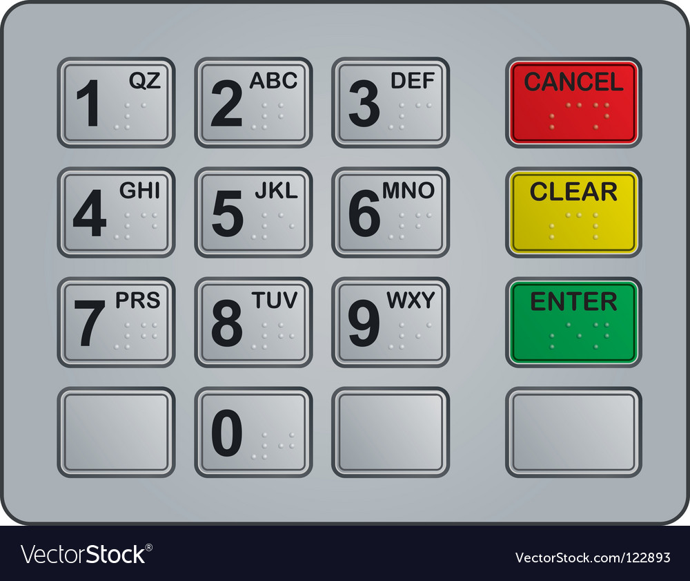 Atm keypad vector | Price: 1 Credit (USD $1)