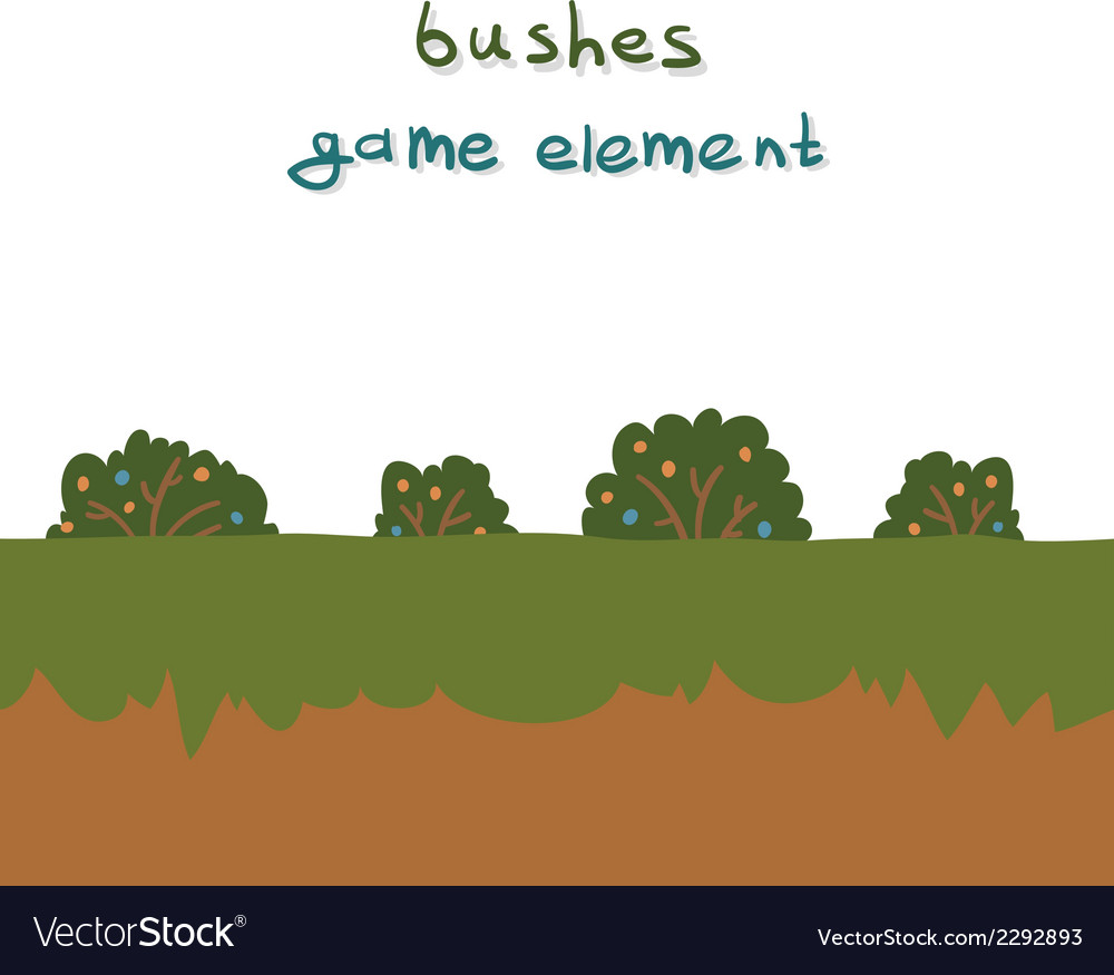 Bushes game element vector | Price: 1 Credit (USD $1)