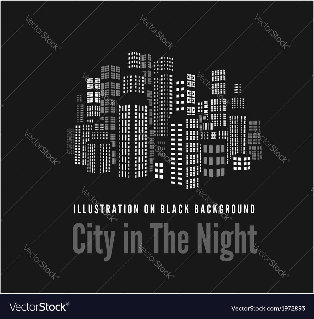City night vector | Price: 1 Credit (USD $1)