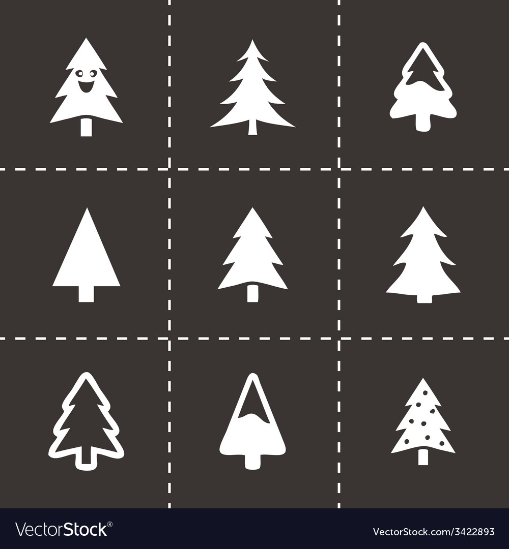 Cristmas trees icons set vector | Price: 1 Credit (USD $1)