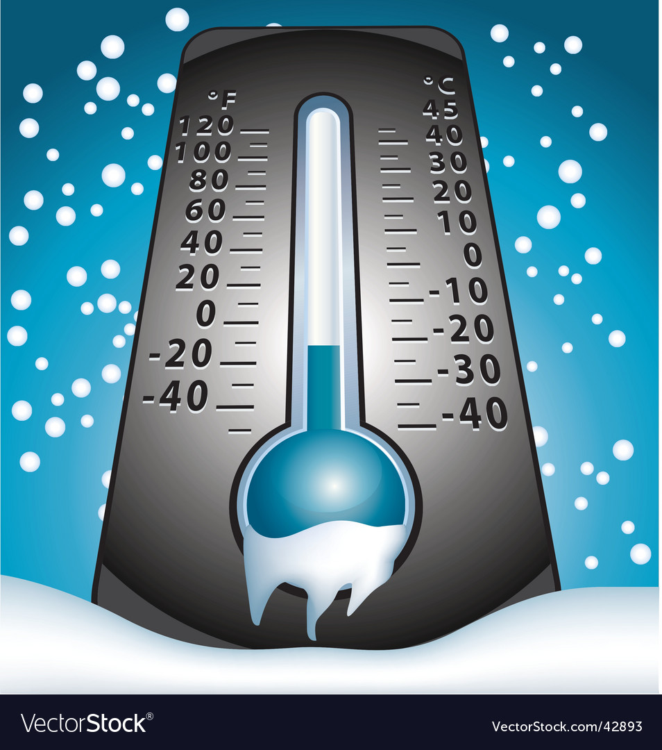 Frozen thermometer vector | Price: 1 Credit (USD $1)