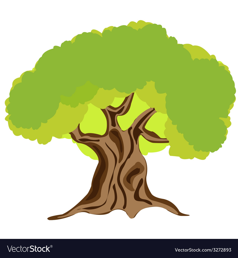 Made someone look fat tree on white vector | Price: 1 Credit (USD $1)