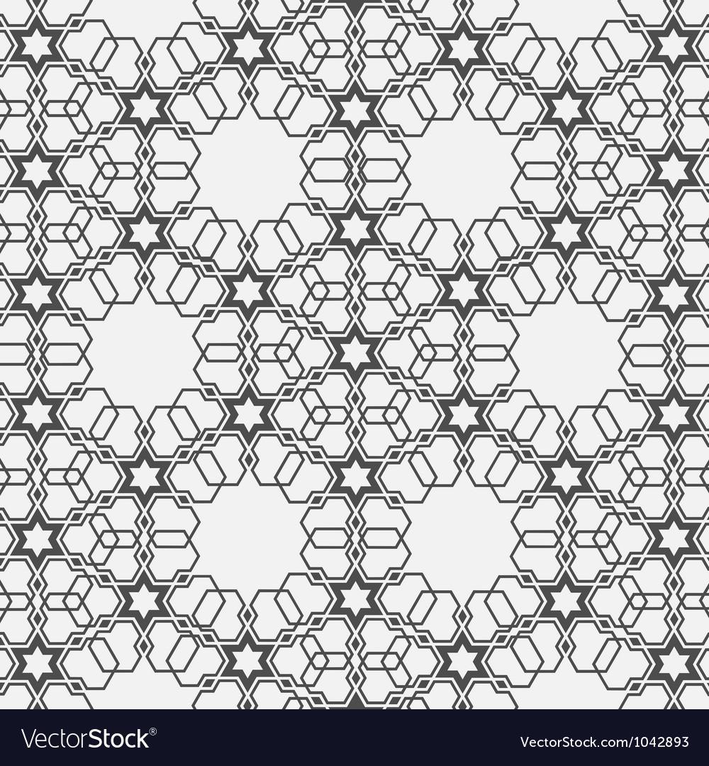 Monochromatic pattern on islamic motif vector | Price: 1 Credit (USD $1)