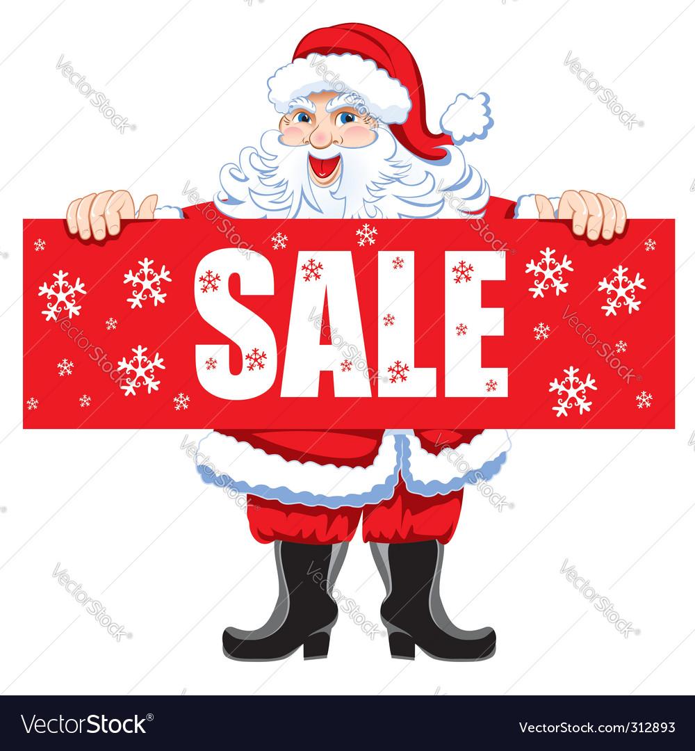 Santa and christmas sale vector   Price: 3 Credit (USD $3)