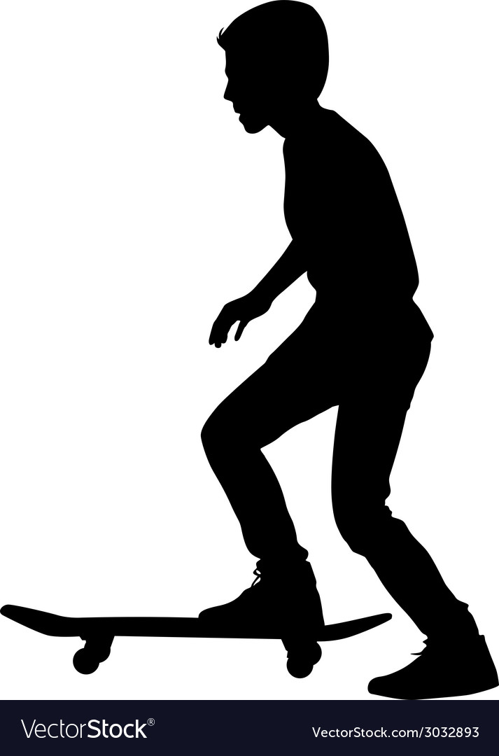 Set of skateboarders silhouette vector   Price: 1 Credit (USD $1)