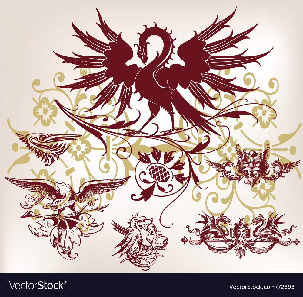 Vintage bird vector | Price: 1 Credit (USD $1)