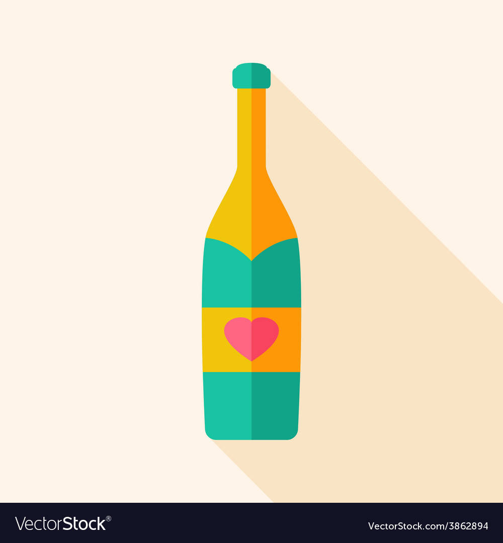 Alcohol bottle with heart vector | Price: 1 Credit (USD $1)