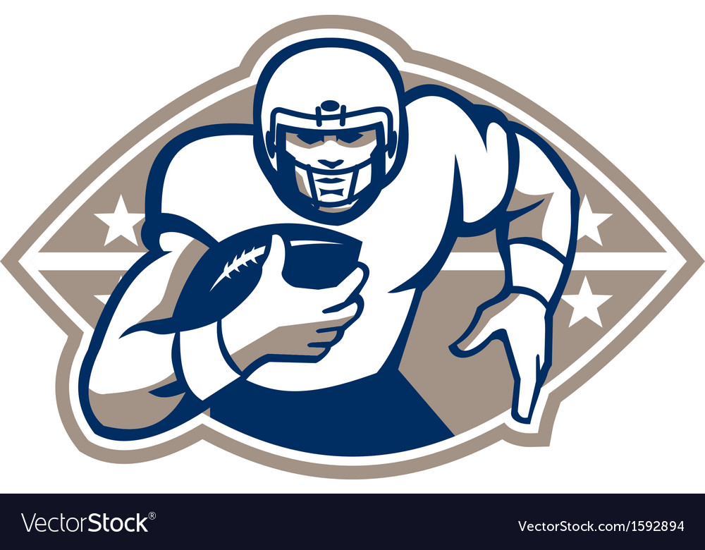 American football runningback star front vector | Price: 1 Credit (USD $1)