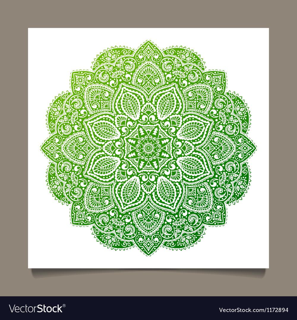 Beautiful indian ornament vector   Price: 1 Credit (USD $1)