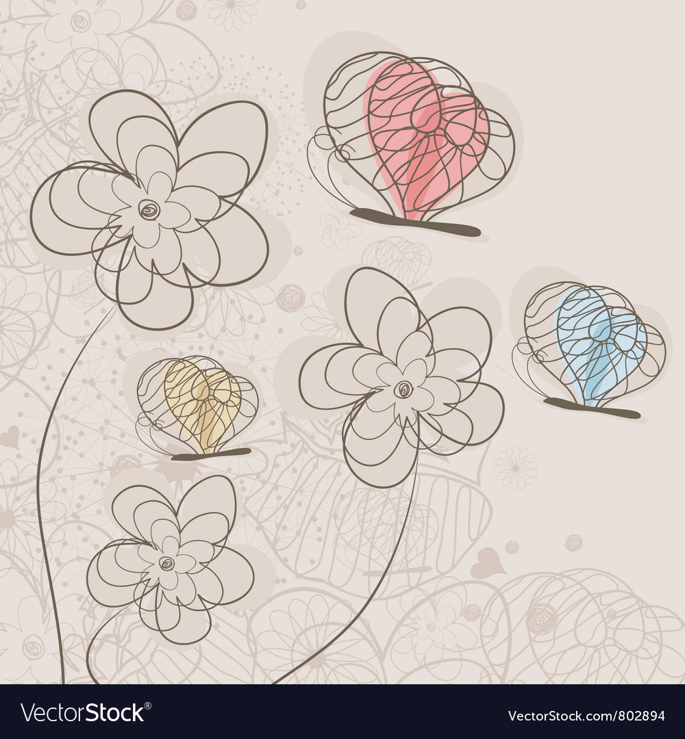Butterfly and a flower vector | Price: 1 Credit (USD $1)