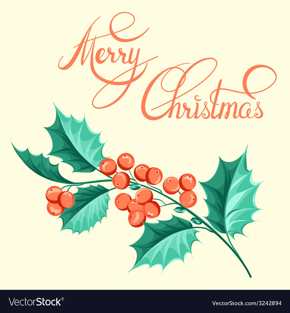 Christmas mistletoe brunch vector | Price: 1 Credit (USD $1)