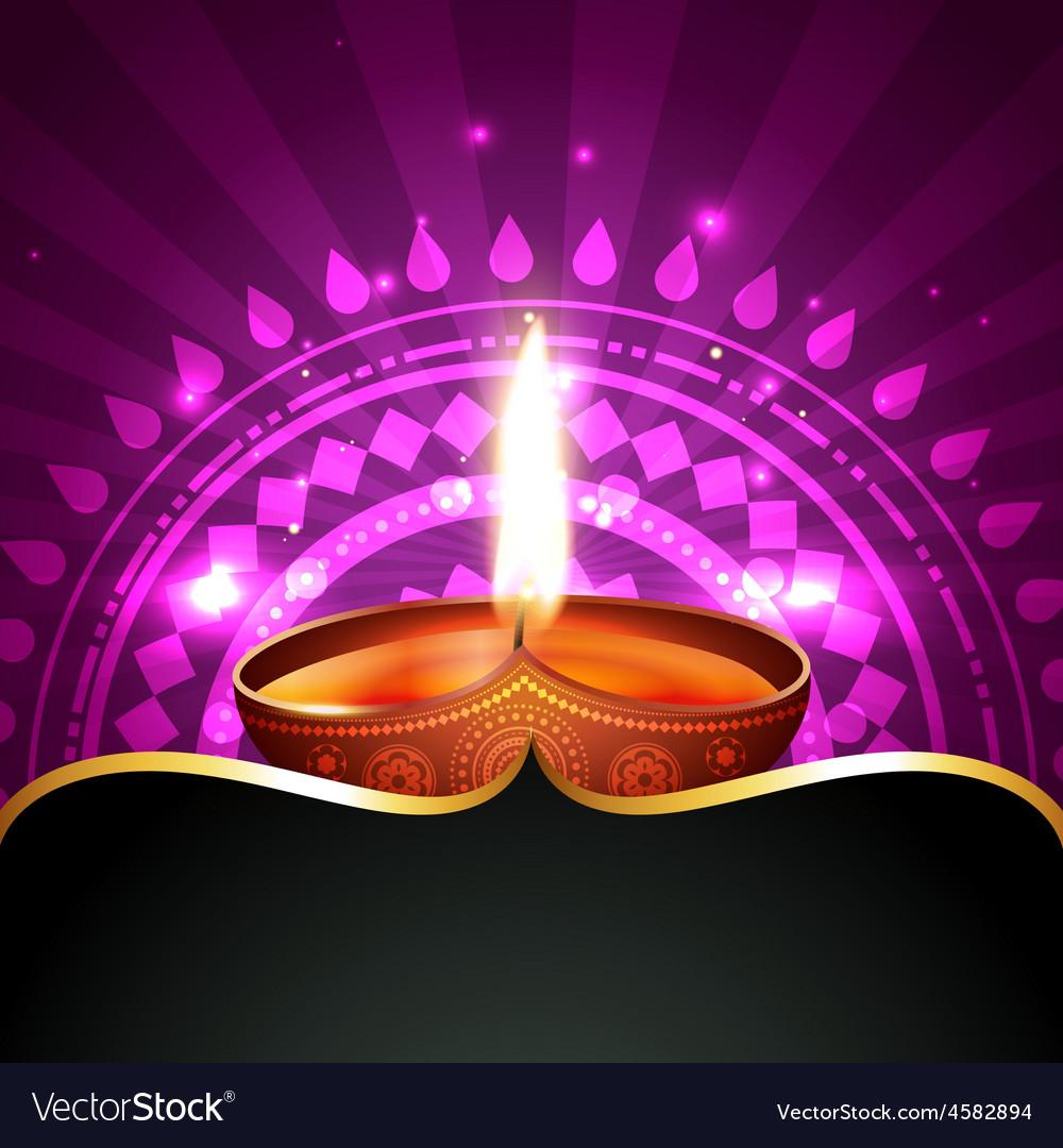 Diwali diya background vector | Price: 1 Credit (USD $1)