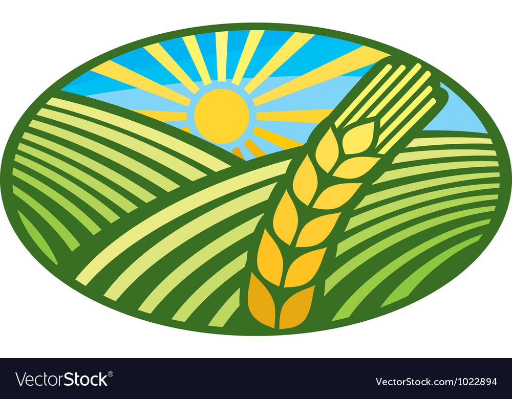 Farming wheat symbol vector | Price: 1 Credit (USD $1)