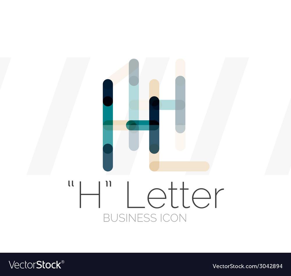 H letter logo minimal line design vector | Price: 1 Credit (USD $1)