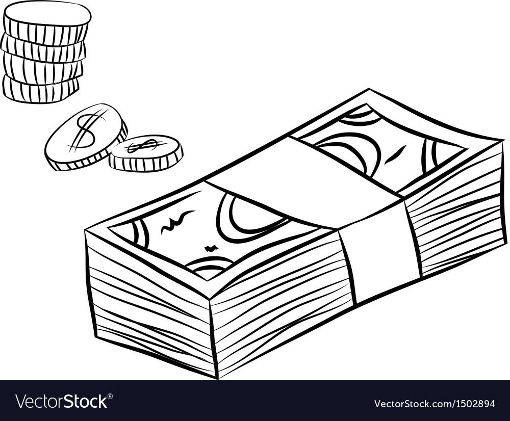 Money sketch vector | Price: 1 Credit (USD $1)
