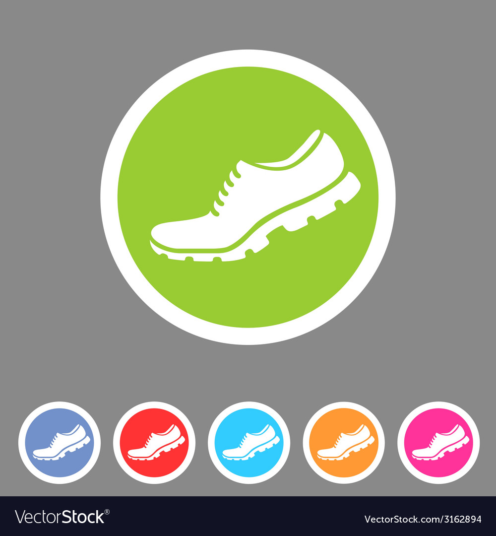 Running shoe sneaker trainer flat icon vector | Price: 1 Credit (USD $1)