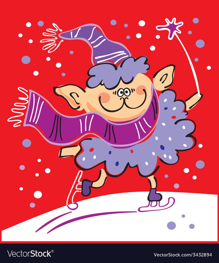 Sheep skating - new year 2015 vector | Price: 1 Credit (USD $1)