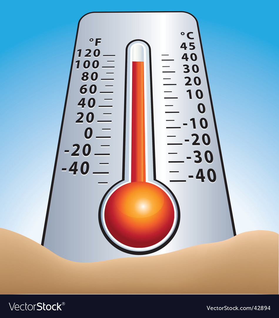 Summer thermometer vector | Price: 1 Credit (USD $1)