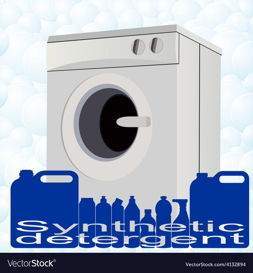 Washer and detergents vector | Price: 1 Credit (USD $1)