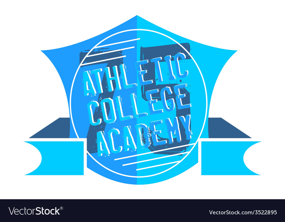 Athletic college vector | Price: 1 Credit (USD $1)