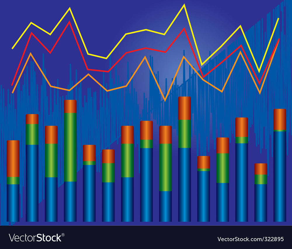 Growth chart vector   Price: 1 Credit (USD $1)