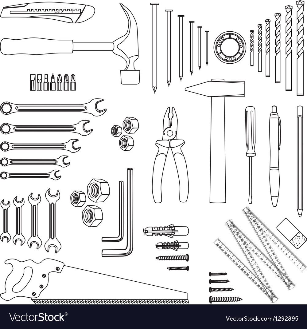 Home tools vector | Price: 1 Credit (USD $1)