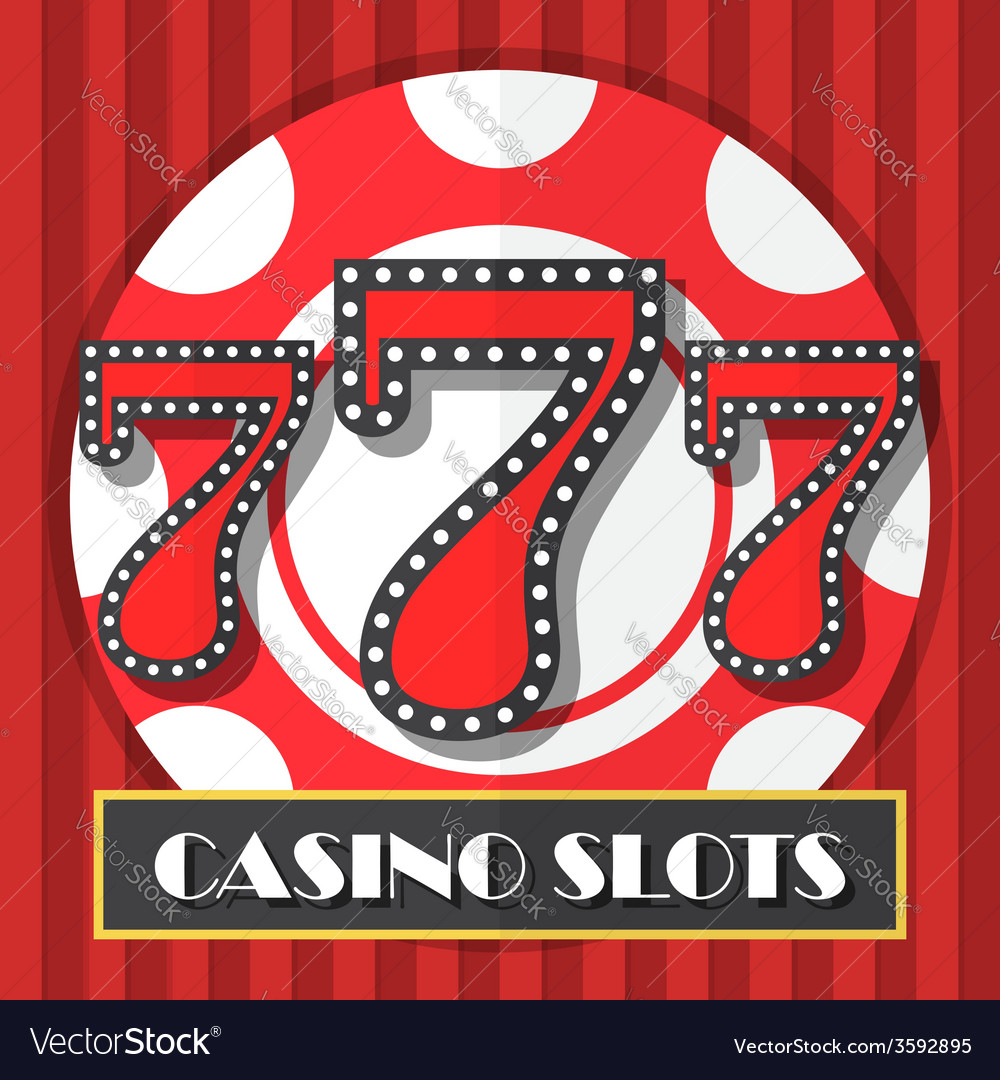 Lucky seven casino slot machine background icon vector | Price: 1 Credit (USD $1)