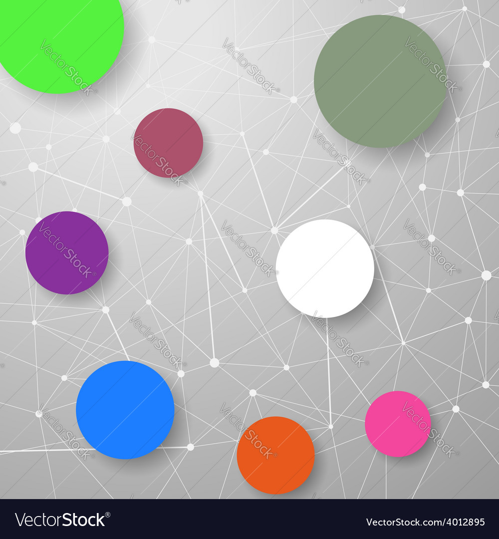 Modern connection modeling background with circles vector | Price: 1 Credit (USD $1)