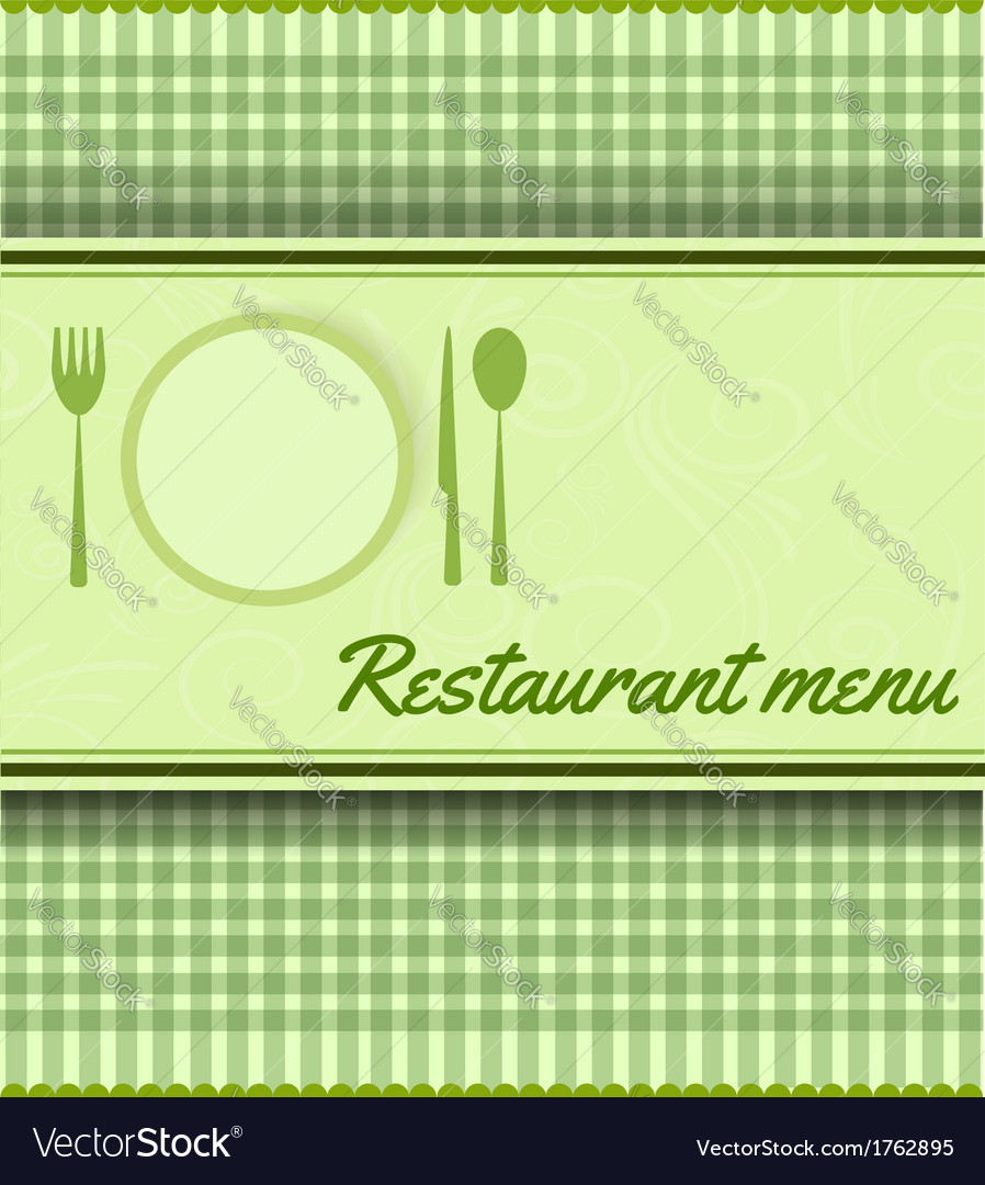 Restaurant green template vector | Price: 1 Credit (USD $1)