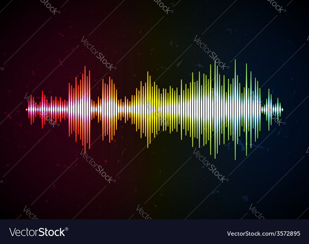 Shiny waveform on a grungy surface vector | Price: 1 Credit (USD $1)