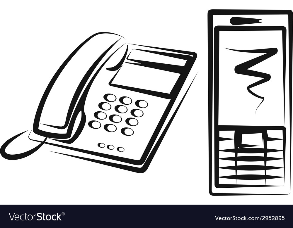 With a different kinds of phone equipment vector | Price: 1 Credit (USD $1)