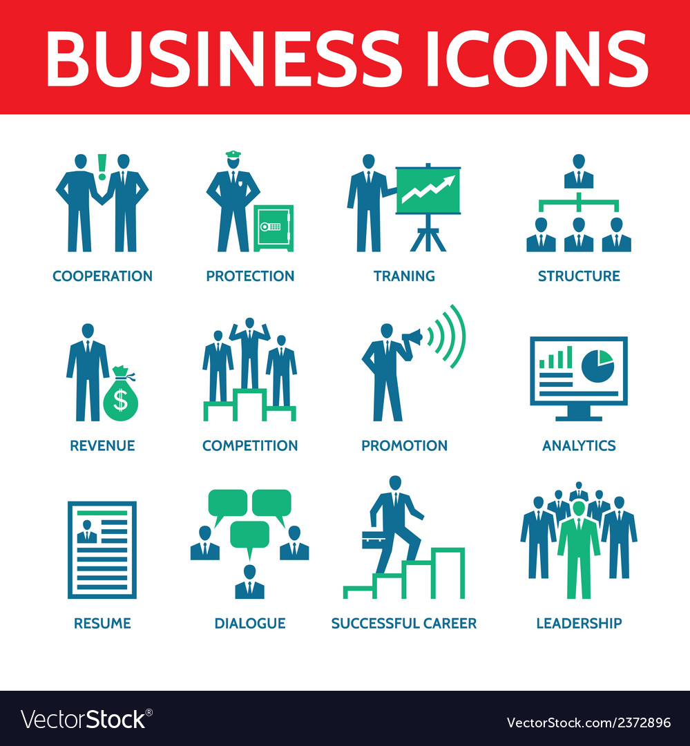12 business icons  business people vector