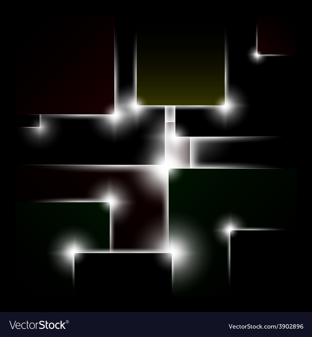 Abstract background of black squares vector | Price: 1 Credit (USD $1)