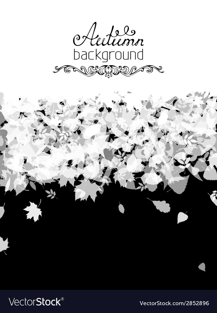 Black and white nature background vector | Price: 1 Credit (USD $1)