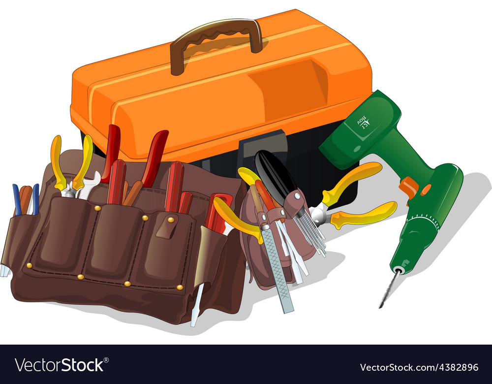 Box with tools vector | Price: 1 Credit (USD $1)