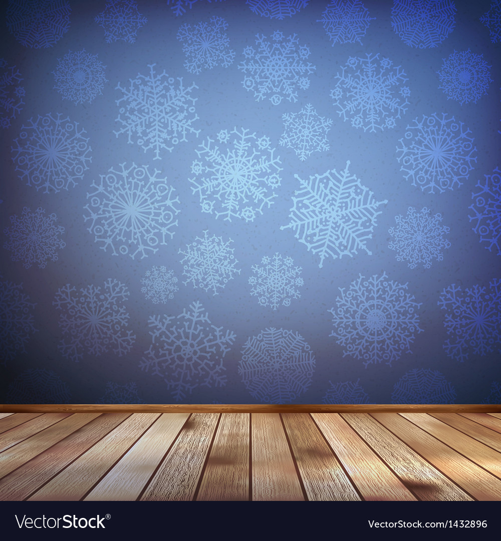 Christmas composition with wood floor eps 10 vector | Price: 1 Credit (USD $1)