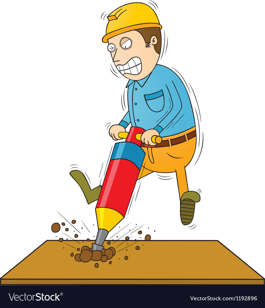 Drilling man vector | Price: 1 Credit (USD $1)