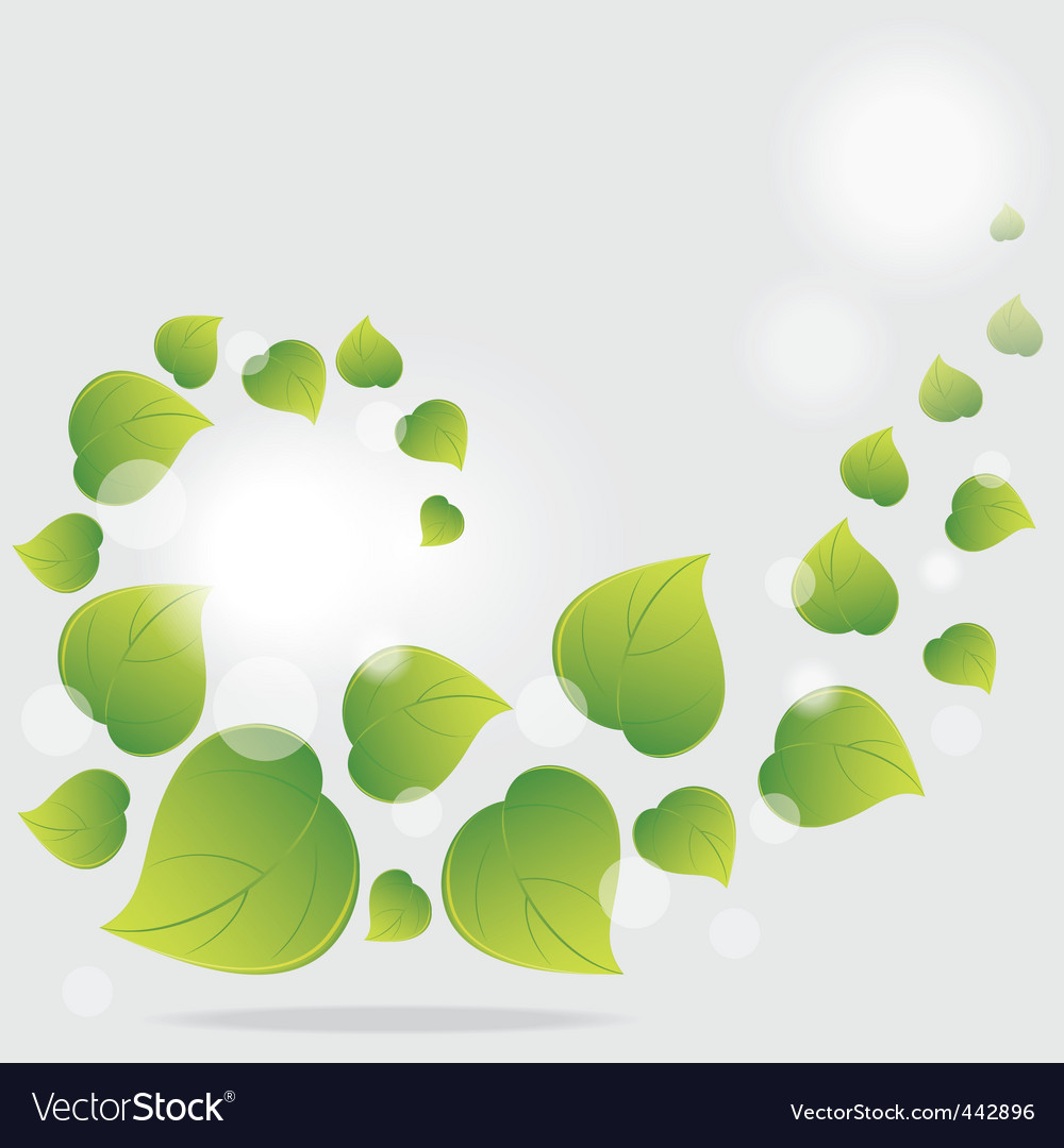 Green leaves vector | Price: 1 Credit (USD $1)