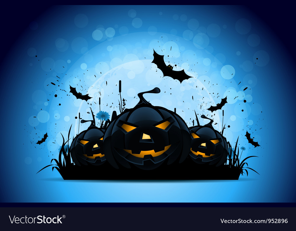 Halloween background with pumpkins vector | Price: 3 Credit (USD $3)