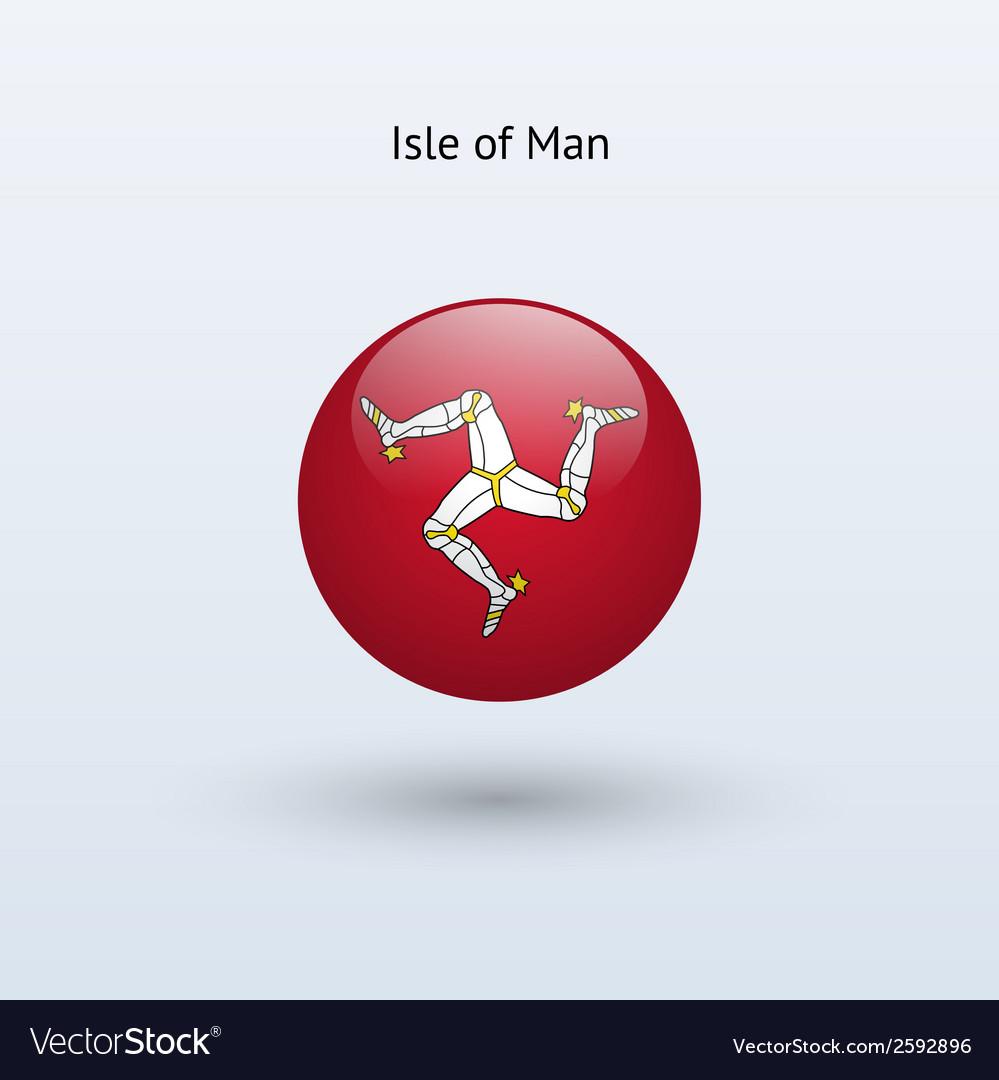 Isle of man round flag vector | Price: 1 Credit (USD $1)