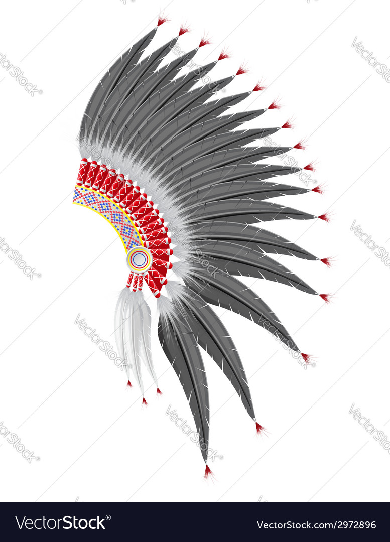 Mohawk hat of the american indians vector | Price: 1 Credit (USD $1)