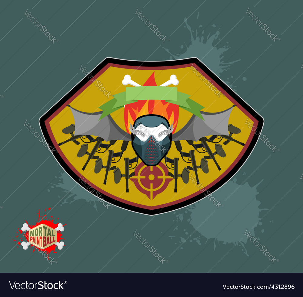 Paintball emblem club wings of fire and paintball vector | Price: 1 Credit (USD $1)