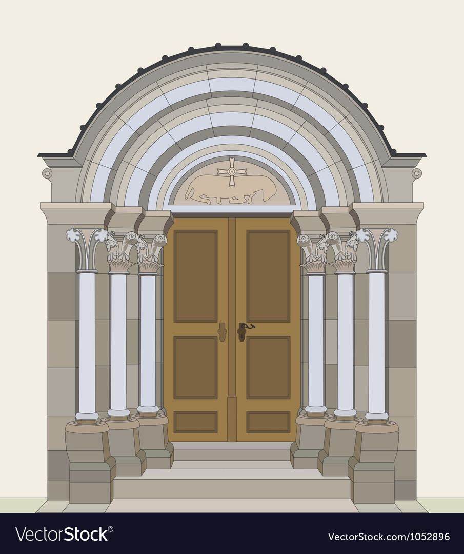 Romanesque portal vector | Price: 1 Credit (USD $1)