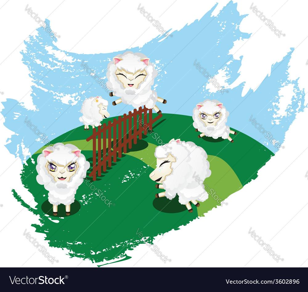 Sheep jumping vector   Price: 1 Credit (USD $1)