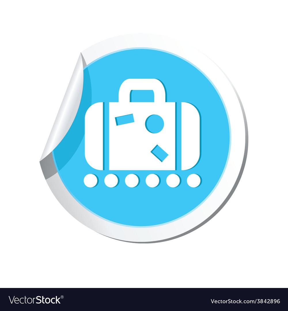 Suitecase blue label vector   Price: 1 Credit (USD $1)