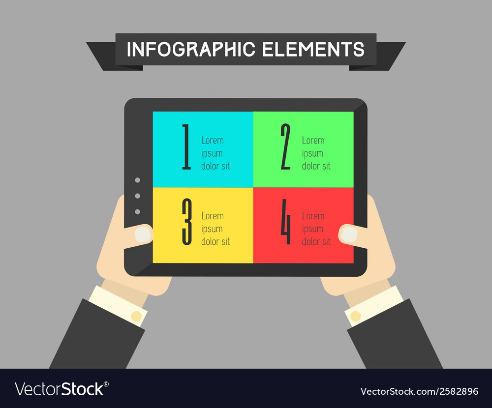 Technology infographic element vector | Price: 1 Credit (USD $1)